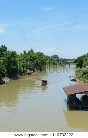 Tha Chin River At Sam Chuk Market