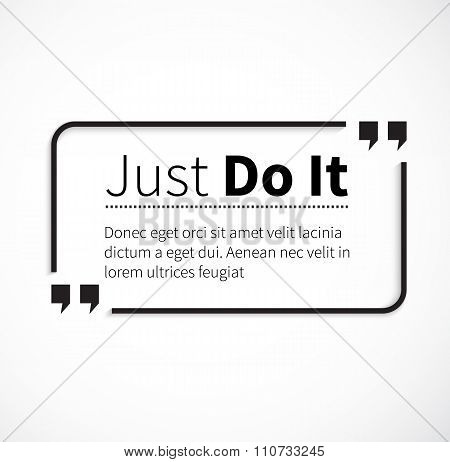 Phrase Just Do It in Isolation Quotes