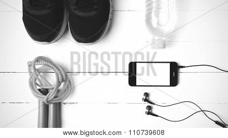 Fitness Equipment Black And White Color Tone Style