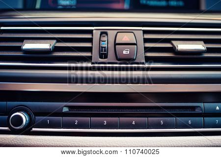 Details And Close-up Of Air Conditioning And Car Ventilation System