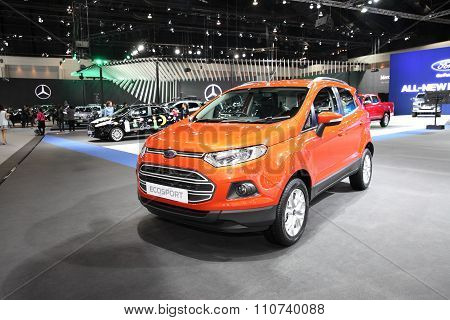 Bangkok - December 1: Ford Ecosport Car On Display At The Motor Expo 2015 On December 1, 2015 In Ban