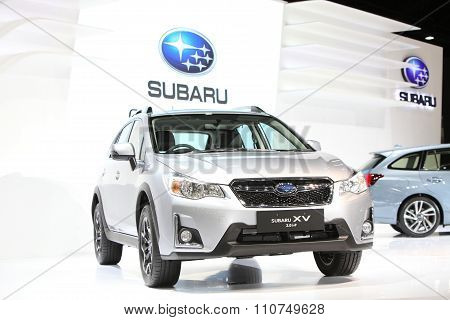 Bangkok - December 1: Subaru Xv 2.0 I-p Car On Display At The Motor Expo 2015 On December 1, 2015 In