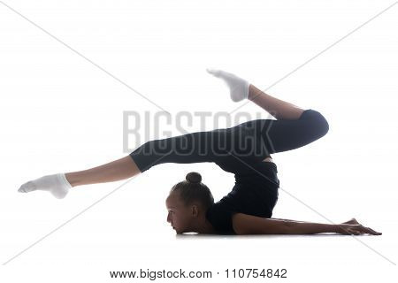 Girl Doing Art Gymnastics
