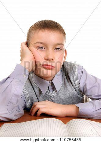 Bored Kid Doing Homework