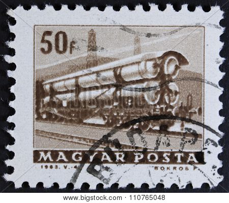 Vintage postage stamp - isolated on black and white