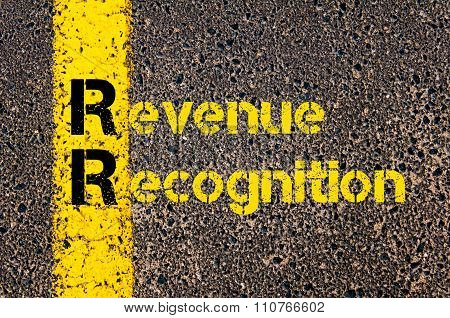 Accounting Business Acronym Rr Revenue Recognition