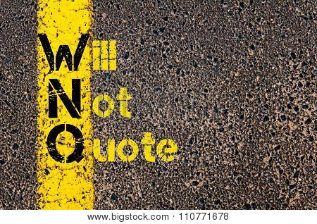 Accounting Business Acronym Wnq Will Not Quote