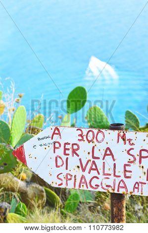 Quatrocchi, viewpoint at Lipari