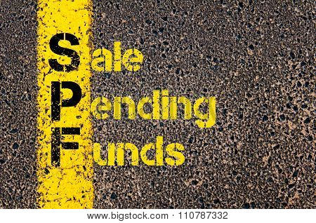 Accounting Business Acronym Spf Sale Pending Funds