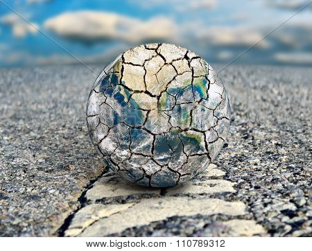 Earth Is The Path To Ecological Disaster. Elements Of This Image Furnished By Nasa