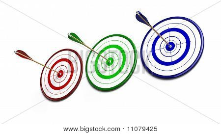 rgb targets and arrows