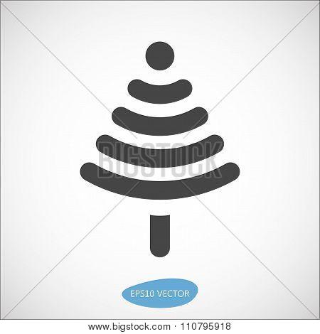 Funny Christmas tree icon based on wireless symbol