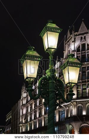 Street Lamps On Petrovka Street In Moscow