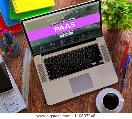 PaaS. Cloud Technology Concept.