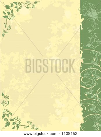 Grunge Background With Plants