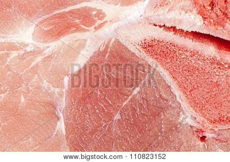 Extreme Close Up Picture Of Pork Leg Fresh Meat