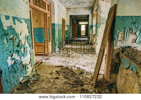 Abandoned Old House Interior. Forsaken building