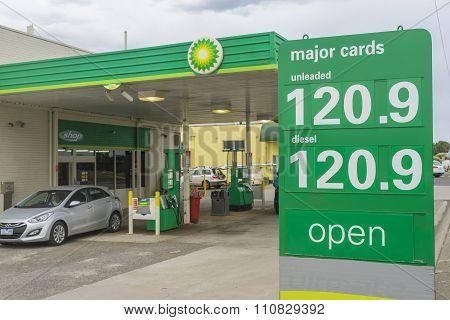 Close-up Of Petrol Price Sign