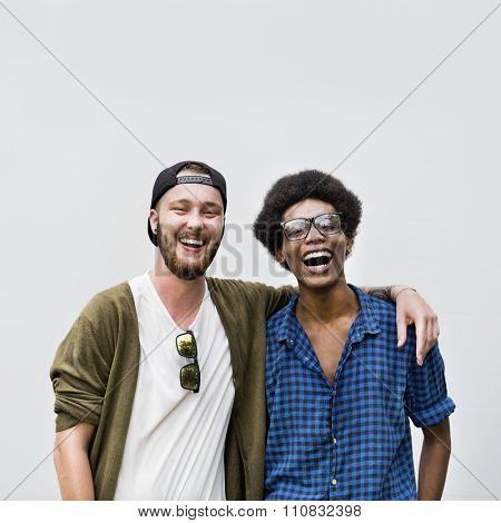 Men Friendship Happiness Togetherness Teamwork Concept