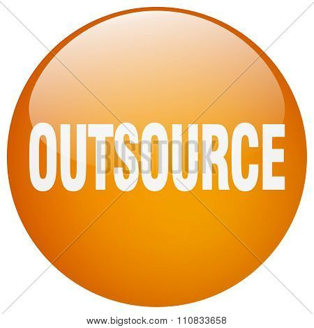 Outsource Orange Round Gel Isolated Push Button