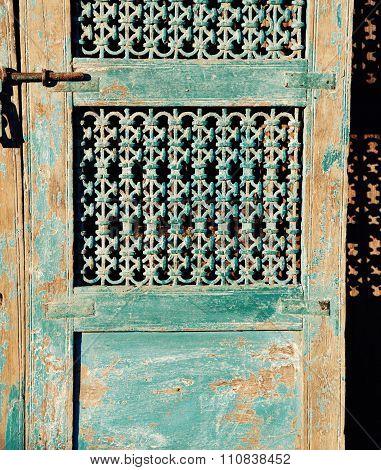 Shabby Chic Turquoise Door