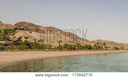 Beach Of Eilat City, Red Sea, Israel