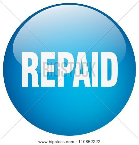 Repaid Blue Round Gel Isolated Push Button