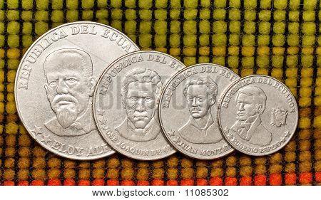 Coins of republic Ecuador