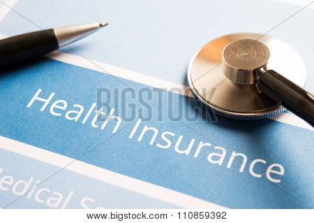 Health insurance document