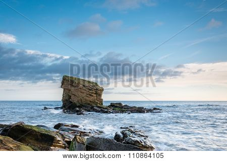 Sea Stack At Collywell Bay