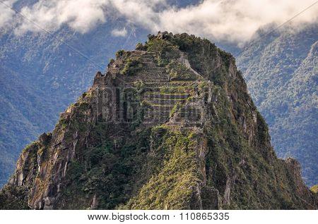 Wayna Picchu Top At Machu Picchu, The Sacred City Of Incas, Peru