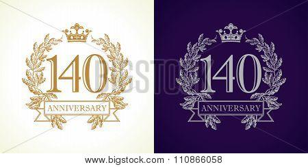 140 anniversary luxury logo.