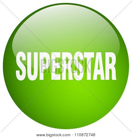 Superstar Green Round Gel Isolated Push Button