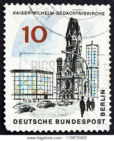 Postage Stamp Germany 1965 Kaiser Wilhelm Memorial Church, Berli