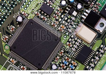 Detail Of Computer Circuit Board