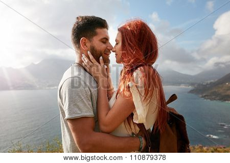 Romantic Couple Enjoying Their Love In Nature