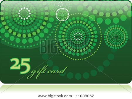 Gift card vector template