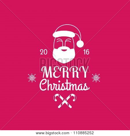 Merry Christmas card with Santa Claus