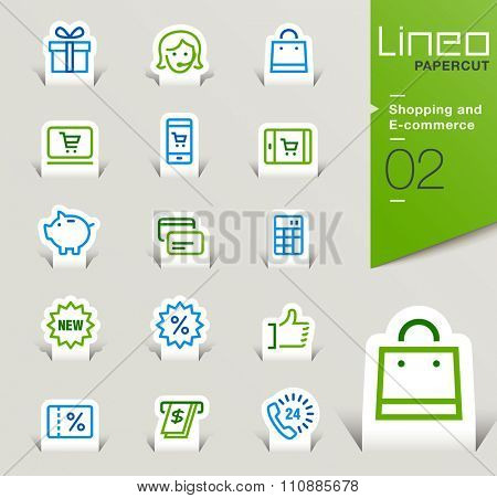 Lineo Papercut - Shopping and E-commerce outline icons