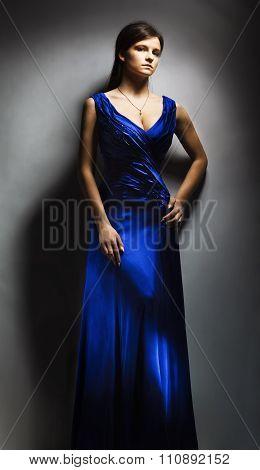 studio portrait of pretty fashionable girl.  studio shot