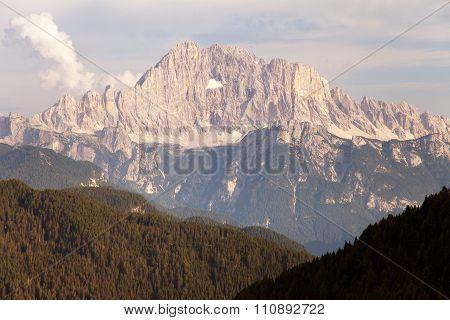 Evening View Of Mount Civetta