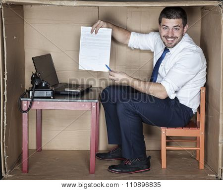 Happy Businessman With His New Contract