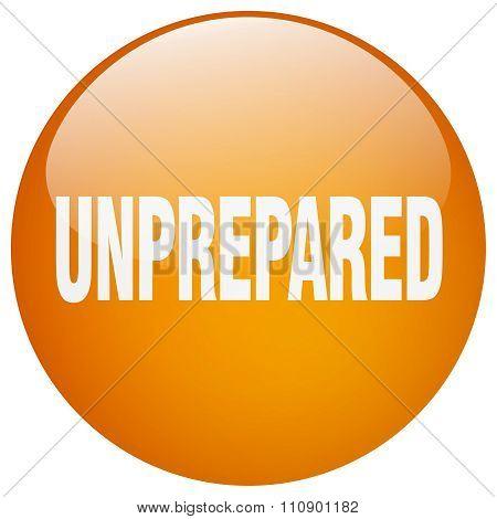 Unprepared Orange Round Gel Isolated Push Button