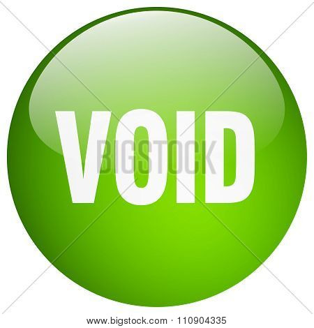 Void Green Round Gel Isolated Push Button