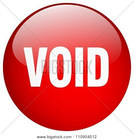 Void Red Round Gel Isolated Push Button