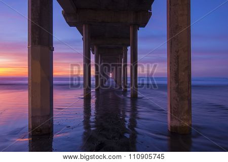 Diminishing Perspective Under Concrete Pier