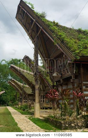 Preserved Boat House Tana Toraja Village