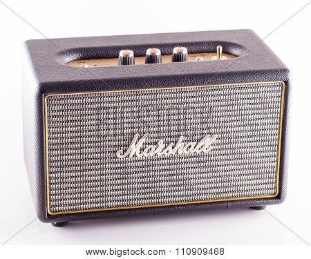Marshall Amp Over White