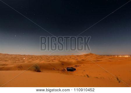 Bedouin nomad tent camp