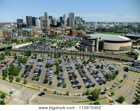 Denver, Usa - July, 3: Skyline Of Denver On July 3, 2013  In Colorado, Usa. Denver Is The Most Popul